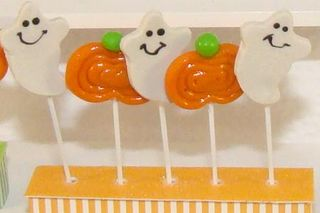 Halloween Ghost Lollipops